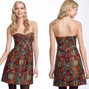 Nanette Lepore silk brocade convertible mini dress